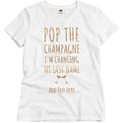 Pop Champagne Custom Bride