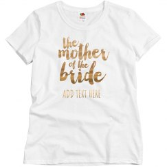 Mother Of The Bride Gold Metallic