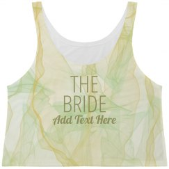 All Over Abstract Bride Print