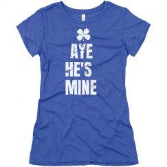 He's Mine Irish Matching Tee