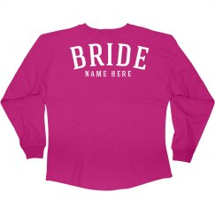 Custom Bride's Name Jersey Gift