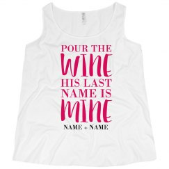 Custom Last Name Wine Bride