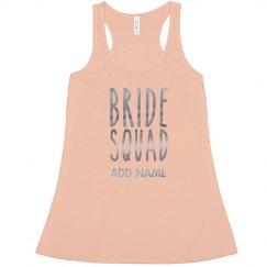 Cute Custom Metallic Bride Squad