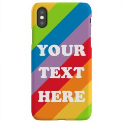 Gay Pride Rainbow Custom Text