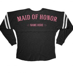 Cute & Trendy Custom Maid Of Honor Bachelorette Jersey