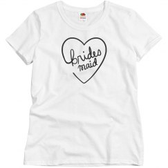 Bridesmaid Heart Custom T-Shirt