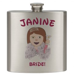 Custom Bride Emoji Flask