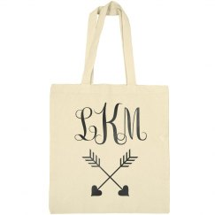 Custom Monogram Bridal Party Totes