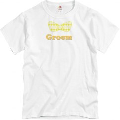 Groom Yellow Bow Tie Tee