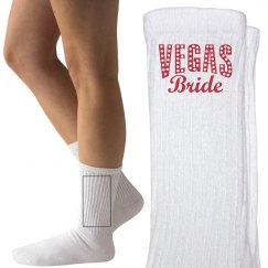 Vegas Bride Woman's Socks