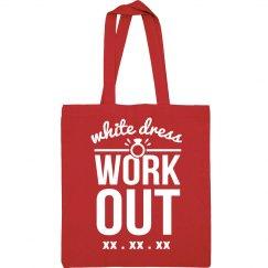 White Dress Workout Custom Gym Bag