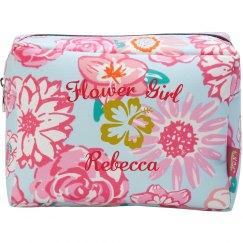 Flower Girl Makeup Bag