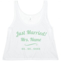 Custom Name Just Married Matching