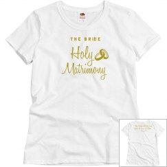 Christian Holy Matrimony Mark 10:19, BRIDE