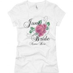 June Bride Flower Tee