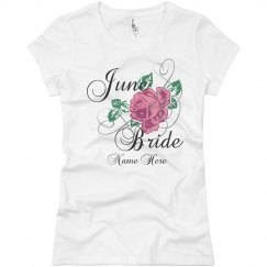 June Bride Flower Tee