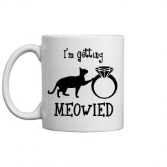 Getting Meowied Bride-to-Be Cat Mug