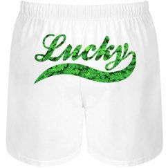 Lucky Irish Groom Shamrocks