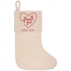 Personalized Flower Girl Stocking