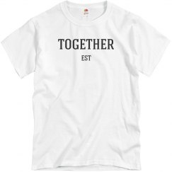 Together Since EST Date Matching Bride & Groom