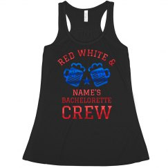 Metallic Custom July 4th Bachelorette Tank