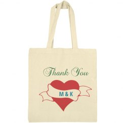 Custom monogram tote bags for wedding favors