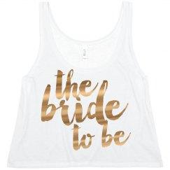 Metallic Bride To Be Text