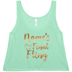 Name's Final Fling in Metallic