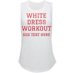 White Dress Bride's Workout