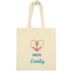 Nautical Bridal Tote Bag