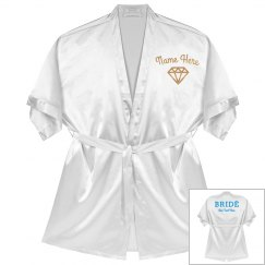 Rose Gold Custom Name Bride Robe