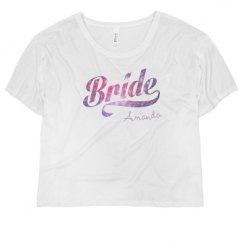 Ladies Flowy Boxy Cropped Tee