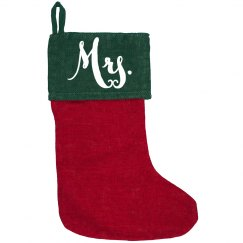 Mrs. Matching Stocking