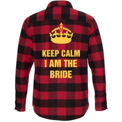 Keep Calm Bride Flannel Shirts