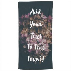 Custom Text Beach Towel