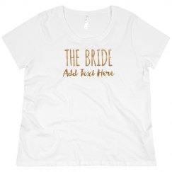 Custom Bride Gold Text