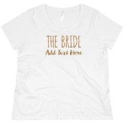 Custom Bride Gold Text