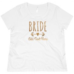Custom Gold Bride Heart