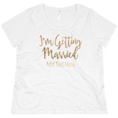 Custom Gold Getting Married