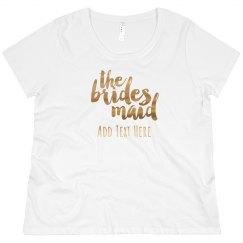 Custom Name Bridesdmaid