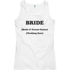 Bride with Wedding info