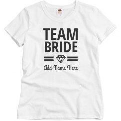 Custom Team Bride Bridal Party Diamond