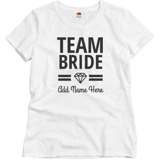 e619a753ac Custom Team Bride Bridal Party Diamond