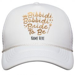 Metallic Bibbidi Bobbidi Bride to Be Hat