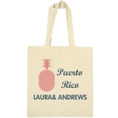 Destination Beach Wedding Welcome Tote Bag