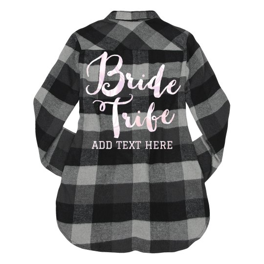 Add Custom Text Bride Tribe Back