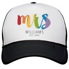 Rainbow Mrs Hat