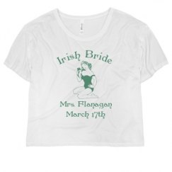 Ladies Flowy Boxy Cropped Tee