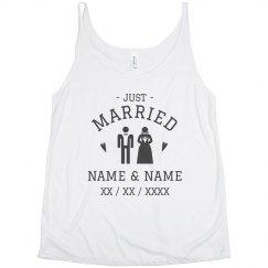 Custom Bride And Groom Just Married
