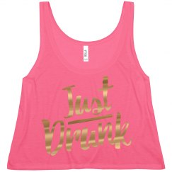 Metallic Drunk Bridesmaid Tanks